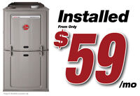 FURNACE & AC - RENT TO OWN - ALL APPROVED! +3 MONTH'S FREE!