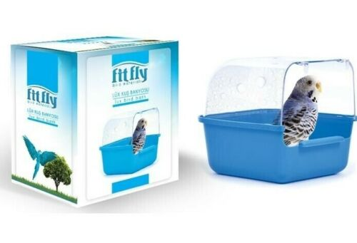 Bird Cage Pet Bath Parakeet Bathing Tube Budgie Canary Finch Hamster small pet
