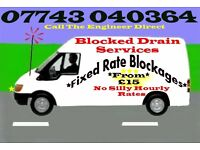 """1Hr Service"" 24/7 Blocked Drains/Toilets from ""£12""BeatAnyQuote 25%"