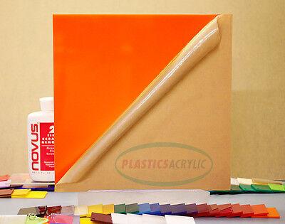 Orange Translucent Acrylic Plexiglass Sheet 116 X 12 X 12 2119