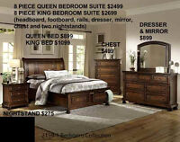 MIKE'S GOT LOTS OF BEDROOM SUITES FROM JUST $899 FOR ALL 8PIECES