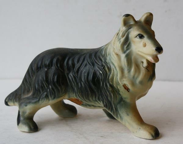 Collie Dog Figurine Dee Bee Original  Ceramic-Porcelain Made Japan-Hand Painted