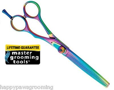 Master Grooming PRO RAINBOW 42-TOOTH THINNING BLENDING SHEAR SCISSOR Pet Dog Cat