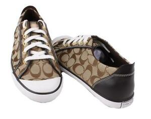 coach barrett signature sneakers lace up tennis shoes
