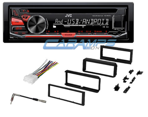 jvc car stereo radio cd player with complete dash installation kit wiring ebay
