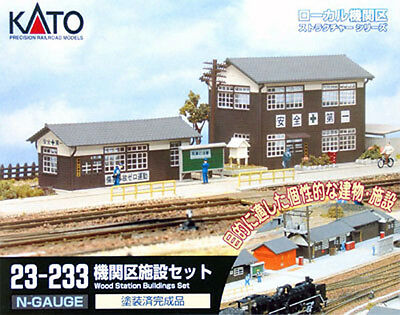 Kato 23-233 Wood Station Building Set (N scale)