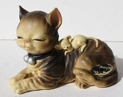 Vintage Josef Originals Alley Cat with Mouse Figure-Made in Japan-AWESOME-Rare