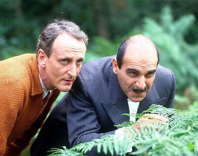 David Suchet and Hugh Fraser UNSIGNED photo - H6001 - Poirot