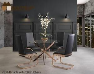 Rose Gold finish 5 PC Dining Set- Web exclusive Sale (MA292)