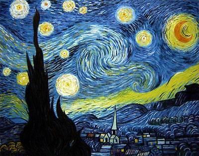 Ölgemälde Gemälde Van Gogh: Starry night 60x80cm