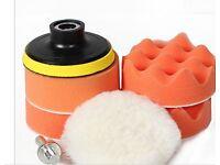 7 piece polishing sponge buffer pad set 3inch NEW