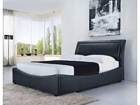 Double leather bed - brand new - free delivery
