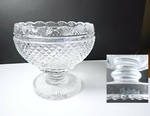 Waterford Crystal PERIOD PIECE Footed Bowl, Mint!