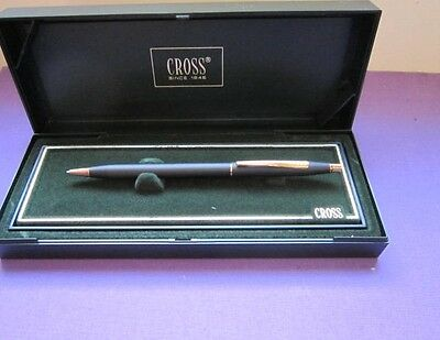 CROSS CENTURY BLACK AND GOLD BALL POINT PEN
