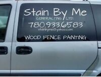 Wood Fence Painting
