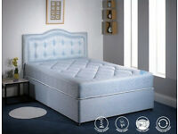 BRAND NEW 5FT KINGSIZE DIVAN BED BASE WITH SEMI ORTHOPAEDIC MATTRESS RRP£299, CALL NOW