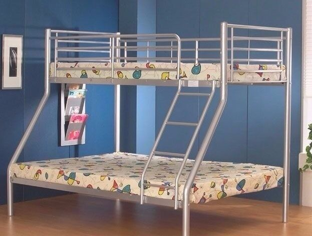 LIMITED TIME OFFER BRAND NEW !! TRIO SLEEPER BUNK BED AND MATTRESS SAME DAY EXPRESS DELIVERY