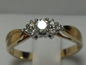 14k yellow gold (.40tcw) Diamond Engagement Ring/Size 6.75