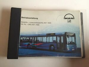 BUS MAN Niederflur NL  A21 // A22  NL - CNG 1999 Betriebsanleitung Handbuch BA