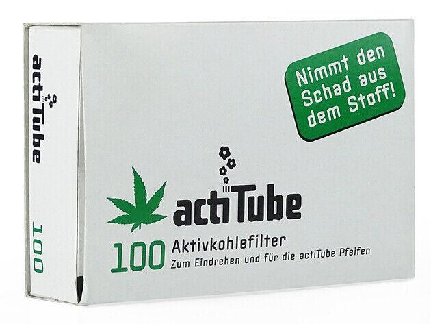 100 Stück actiTube 8mmØ Aktivkohlefilter für Pfeifen und Selbstgedrehte - NEU