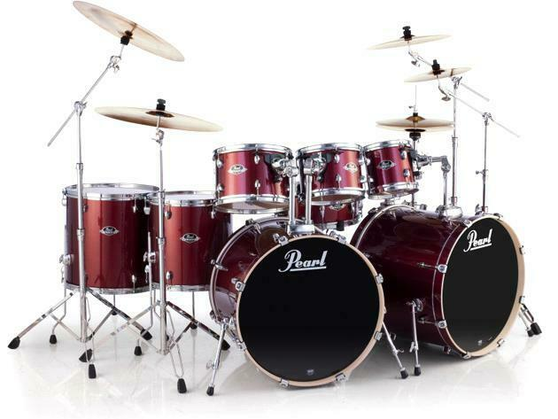 Pearl Export EXX 8-piece Double Bass Drum Set with Hardware - Burgundy