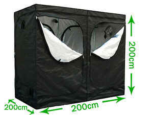 Foldable Grow Tent Bud Dark Green Room Silver Mylar Lined Hydroponics 2m 2.4m 1m