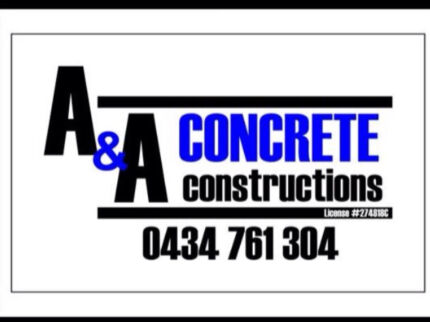 A & A concrete constructions Hawkesbury Area Preview