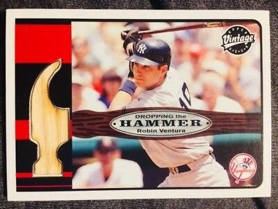 2003 Upper Deck Vintage Robin Ventura Game Used Bat Card Mint Condition Rare