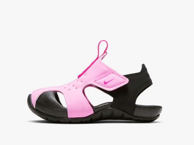 New Nike Baby Sunray Protect 2 Toddler Sandals (943827-602)  Psychic Pink/Black