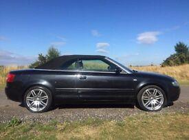 Audi A4 Quattro Convertible 3.0 V6 Automatic - Black Leather Interior - Full Service History