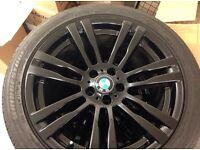 "BMW X6 m sport 20"" alloys gloss black"