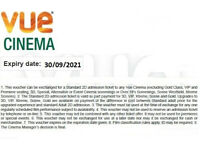 Vue Cinema Tickets with VIP seating
