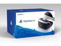 PSVR Playstation VR Playstation virtual reality headset and camera. As new