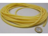 """Latex Rubber Tubing Shore A35 Amber 7//8/"""" OD x 5//8/"""" ID x 1//8/"""" Wall x 5 Ft Length"""