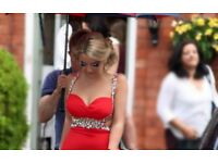 Alyce paris red prom/graduation dress