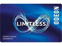 Odeon Limitless e-code for sale - BRAND NEW, UNUSED
