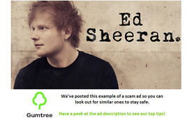 Ed sheeran standing tickets x 4 -- Read the description before replying!!