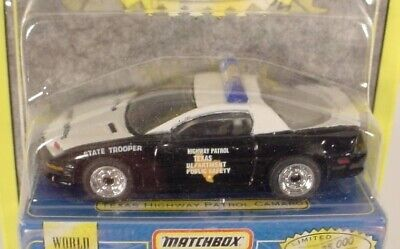 MATCHBOX PREMIERE COLLECTION TEXAS HIGHWAY PATROL CAMARO POLICE CAR  MB59-H4