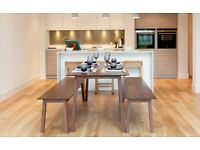Kitchen/Dining Table & Bench Chairs