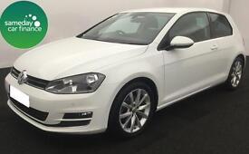 £227.37 PER MONTH WHITE STUNNING 2014 VW Golf 2.0 TDI GT 3 DOOR DIESEL MANUAL