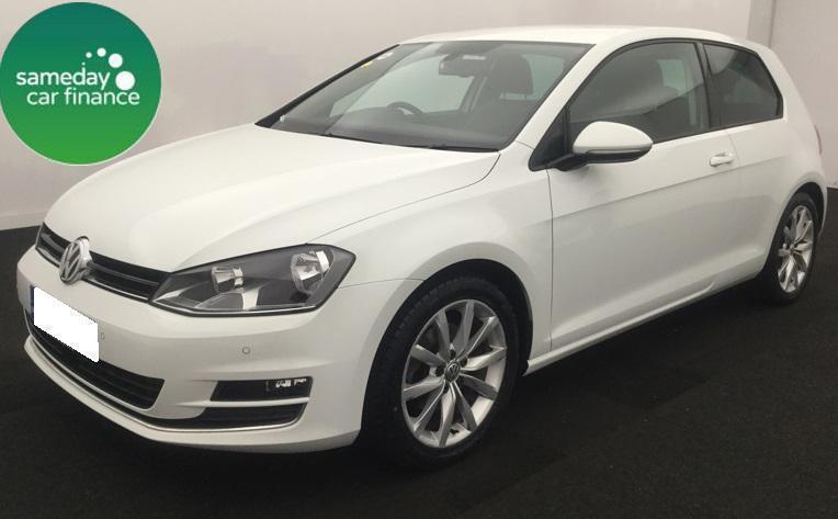 £227.37 PER MONTH WHITE 2014 VW Golf 2.0 TDI GT 3 DOOR DIESEL MANUAL