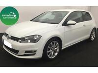 £227.37 PER MONTH WHITE STUNNING 2014 VW Golf 2.0 TDI GT 3 DOOR DIESEL MANUAL
