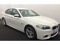White BMW 520 2.0TD Auto 2015 d M Sport FROM £88 PER WEEK!