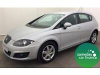 £169.10 PER MONTH SILVER 2012 1.6 SEAT LEON ECOMOTIVE S COPA 5 DOOR MANUAL