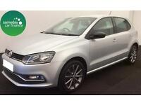 £196.54 PER MONTH SILVER 2015 VW POLO 1.4 TDI SE 5 DOOR DIESEL MANUAL