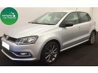 £165.75 PER MONTH SILVER 2015 VOLKSWAGEN POLO 1.4 TDI SE 5 DOOR DIESEL MANUAL