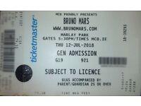 Bruno Mars Ticket - Marlay Park July 12
