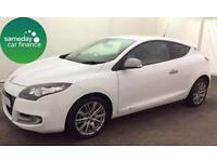 £145.35 PER MONTH 2012 MEGANE 1.5 DCi 110 GT LINE TOMTOM S/S COUPE MANUAL DIESEL