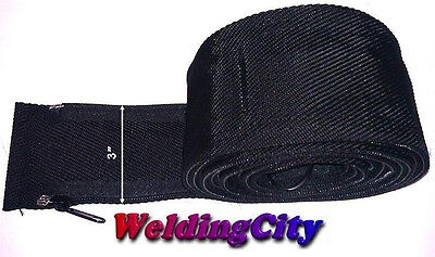 Weldingcity Tig Welding Torch Cable Cover 12-ft Long 3-in Wide Nylon W Zipper