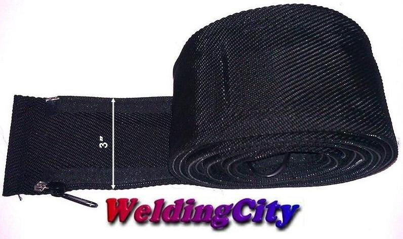 WeldingCity TIG Welding Torch Cable Cover 12-ft Long 3-in Wide Nylon w/ Zipper